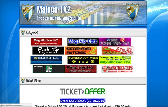 malaga-1x2 com, Info, Review, Fraud, Scam, Blacklist Tipsters